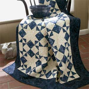 Moonlight Stars Quilt Free Pattern
