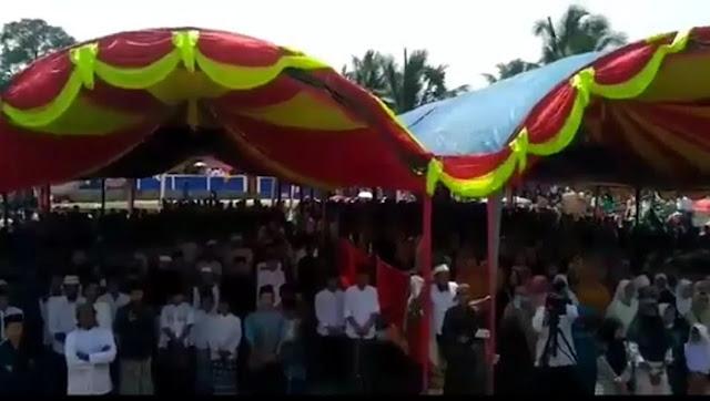 Viral Video Alim Ulama dan Masyarakat Banten Siap Mubahalah dengan Pembenci Habib Rizieq