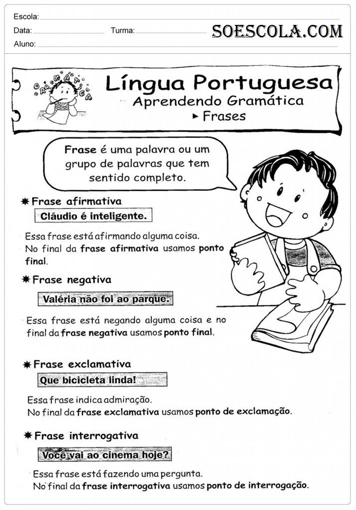 Atividades de portugu s 3 ano para imprimir ensino for Interior sinonimos