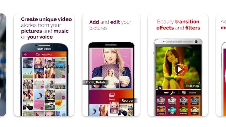 Aplikasi edit foto jadi Video musik teks yang menyenangkan