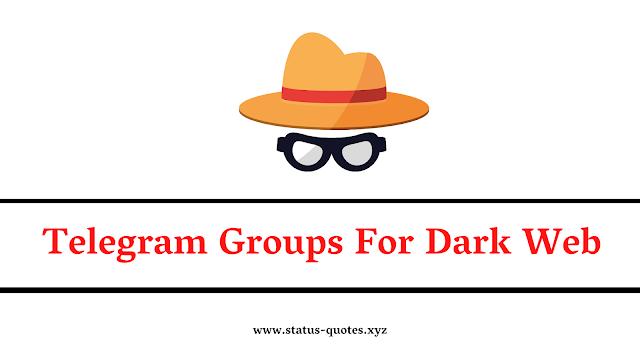 146+ Telegram Group For Dark Web