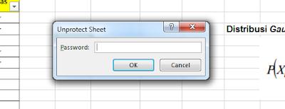Membuka Sheet Excel terkunci