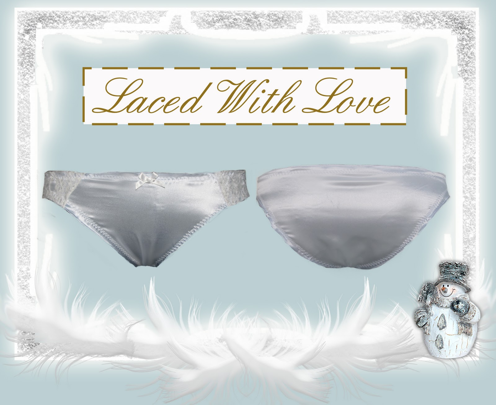 A parisian style knicker today in pale blue silk with lace detail. 1f8263016