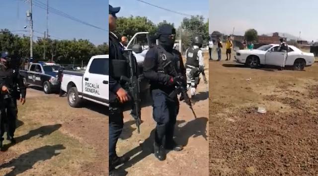 Video: Guardia Nacional ,Estatales y Fiscalía capturan a Escoltas de líder del PRD, en Uruapan, Michoacán tras disparar en partido de futbol infantil tras ardidos por ir perdiendo su equipo
