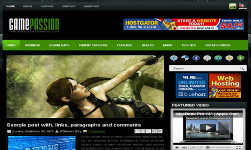GamePassion Blogger Template