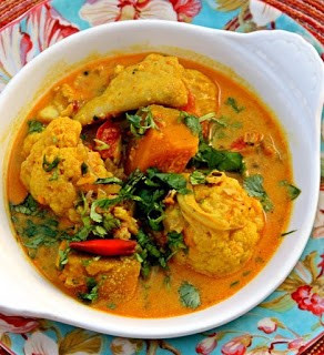 Fish Vegetable Curry Soup