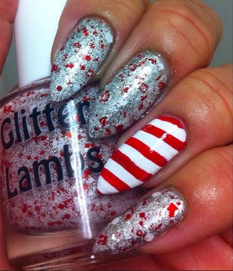 Don't Touch My Candy Cane Milkshake Glitter Lambs Nail Polish