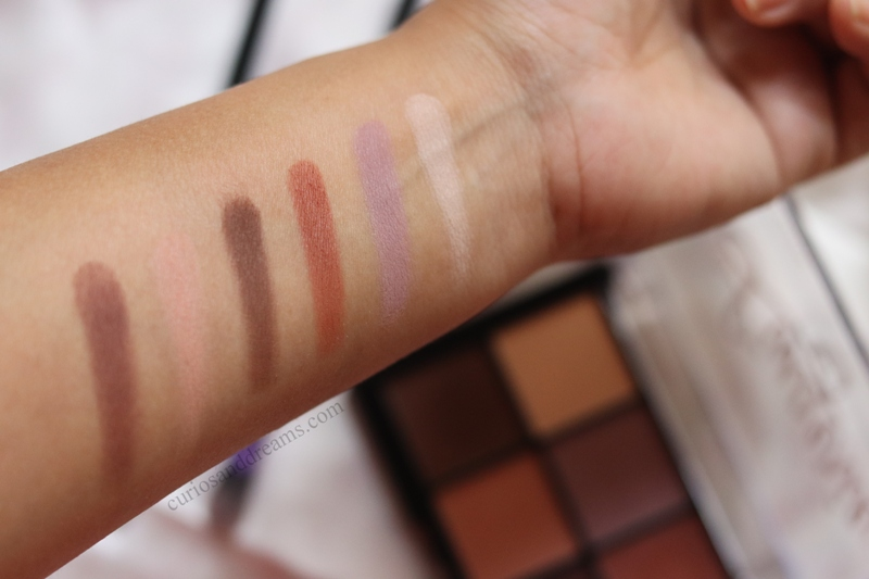 NYX Lid Lingerie Shadow Palette review, NYX Lid Lingerie Shadow Palette swatches