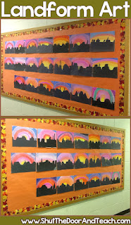 Southwest region landforms art displays