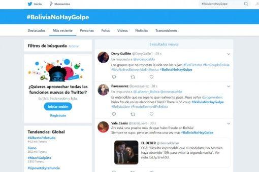 Crean 4.000 cuentas en Twitter para legitimar golpe en Bolivia