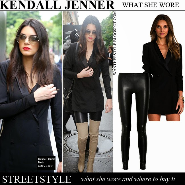 d92219baf09 WHAT SHE WORE  Kendall Jenner in black leather pants
