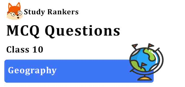 MCQ Questions for Class 10 Geography Free PDF Download
