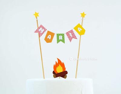 topo bolo festa junina aniversario personalizado