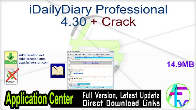 iDailyDiary Professional 4.30 + Crack