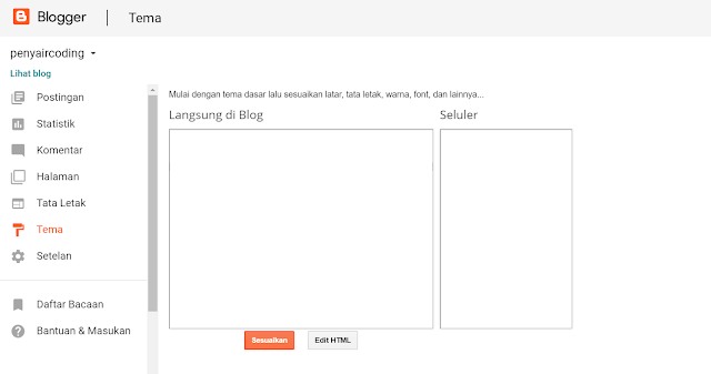 Menu Dropdown di BLOG