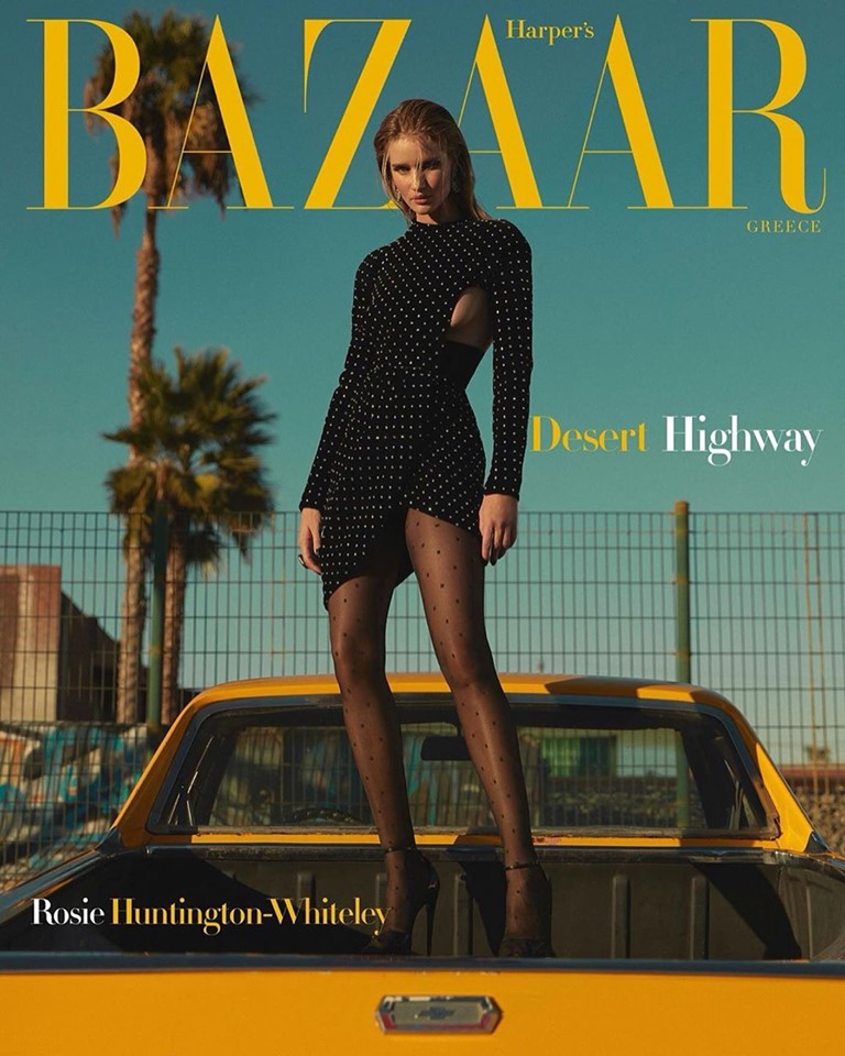 Rosie Huntington-Whiteley for Harper's Bazaar Greece December 2019
