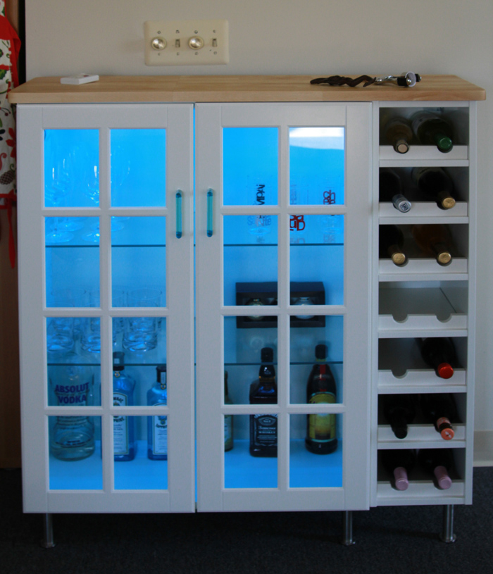 Bar Cabinet from wall cabinets - Home Decoration Views