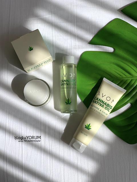 Avon Cannabis Sativa Oil kenevir yağı serisi Cleanse & Calm Temizleyici Yağ incelemesi