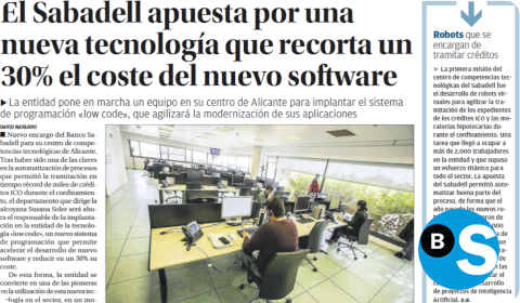 Low-code chez Sabadell