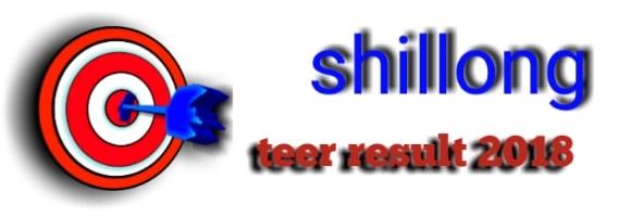 Shillong teer result 2018