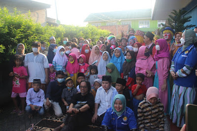 Anniversary Ke-1, Faktakhatulistiwa Adakan Santunan Yatim Bersama BATARA di Poris