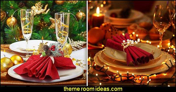 christmas table decorating christmas napkin holders christmas decorations