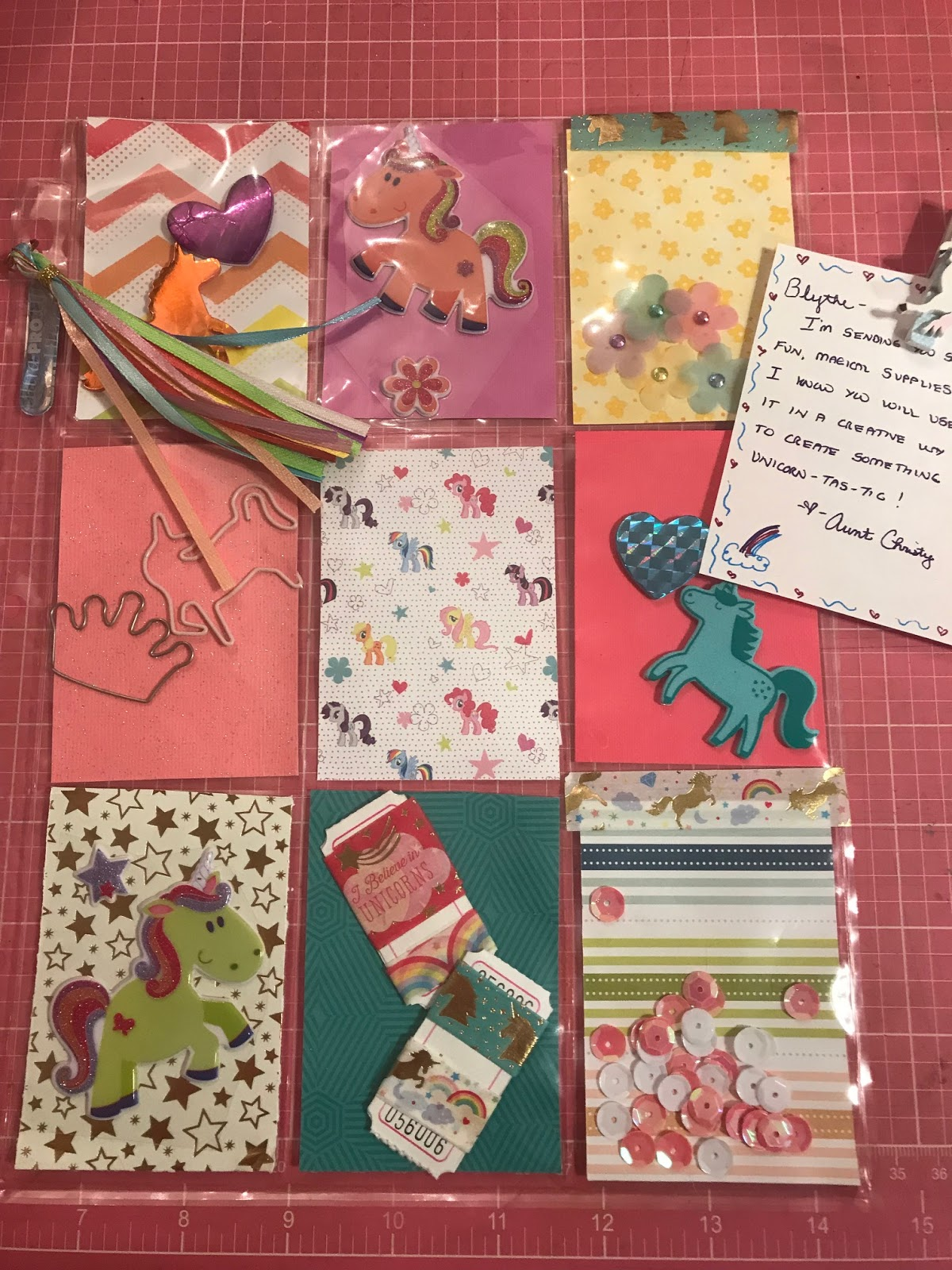 Christy Robbins Unicorn Pocket Letter