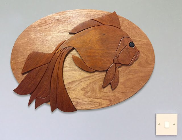 Fish Wooden Wall Art made with Reclaimed Wood