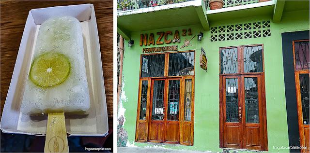 Sorveterias e restaurantes no Centro Histórico da Cidade do Panamá