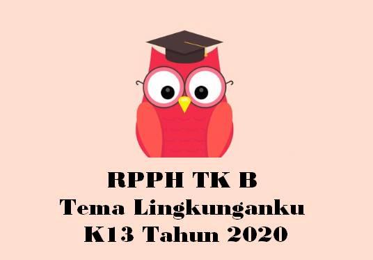 RPPH TK B Tema Lingkunganku K13 Tahun 2020