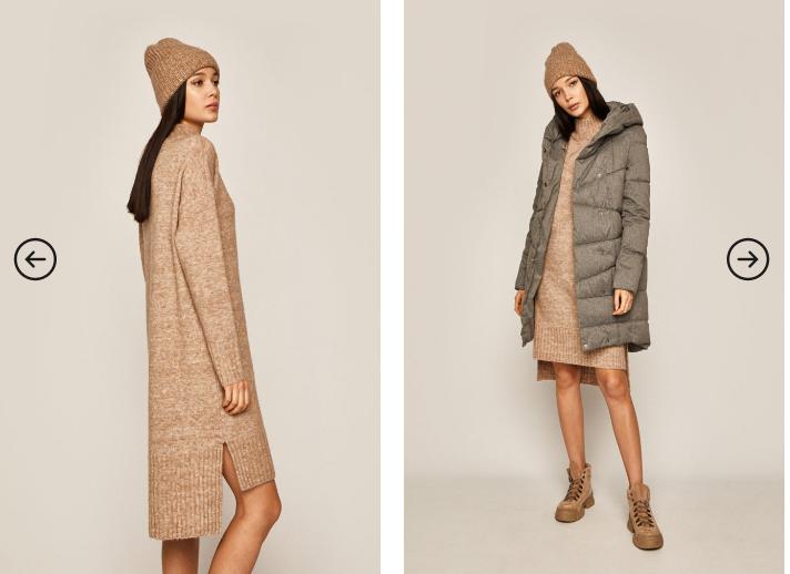 Pulover fashion lung de femei auriu de iarna Medicine la pret mic