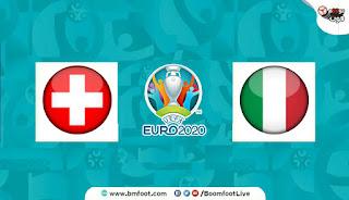 بث مباشر مباراة إيطاليا ضد سويسرا اليوم مباشرة في كأس أمم أوروبا