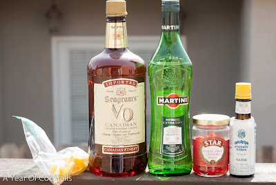 Judy's Manhattan, Manhattan picture, Manhattan photo, Manhattan image, VO, Canadian Whisky, Dry Vermouth, Extra Dry Vermouth, Bitters