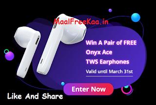 Onyx Ace TWS Earphones FREE