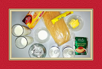 Ingredients of Noodles with cream