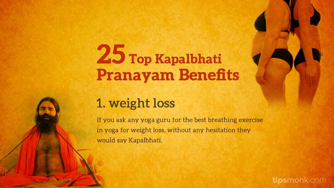Kapalbhati Pranayam benefits - Weight loss