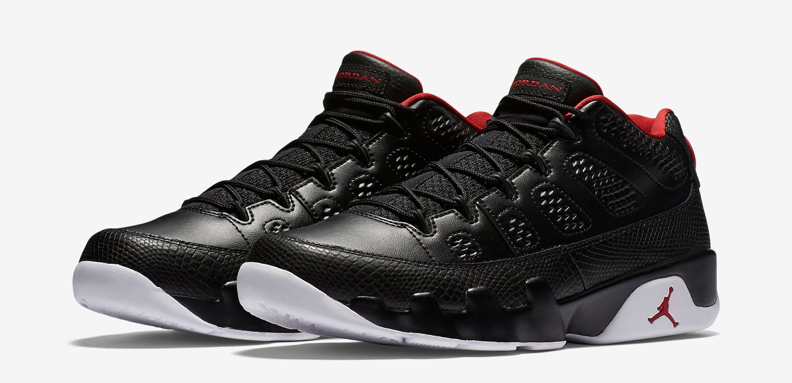 sale retailer 659f6 8e25b Air Jordan 9 Retro Low Black White-Gym Red Release Reminder