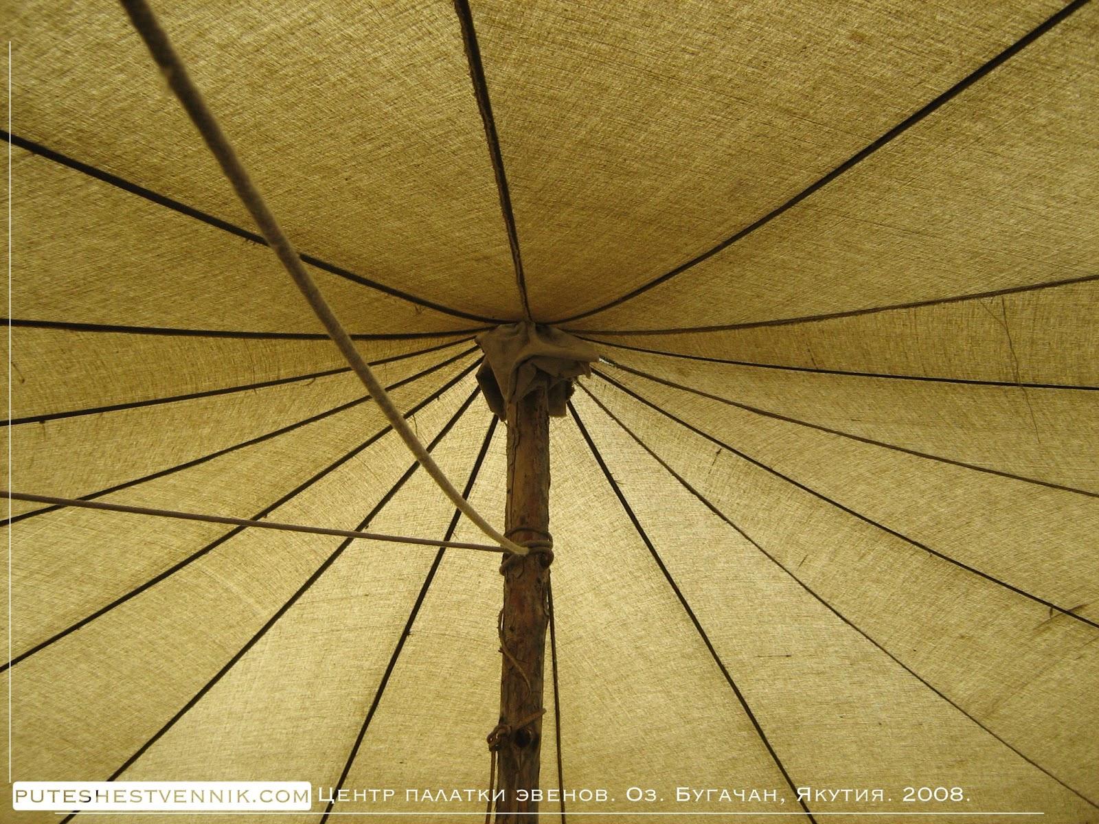 Центр палатки и шест