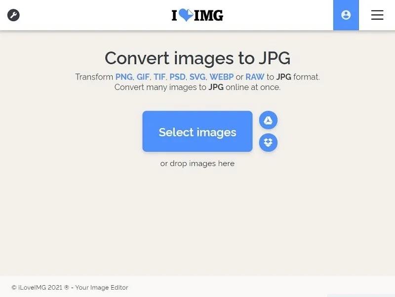 Iloveimg تحويل Webp إلى Jpg