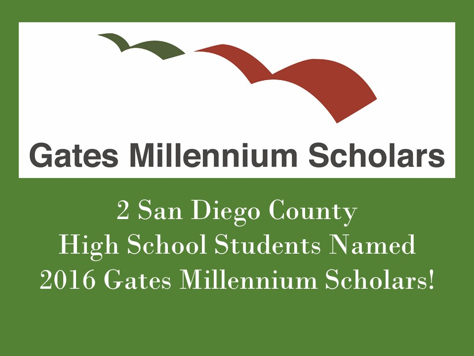north county students d gates millennium scholars  2 north county students d 2016 gates millennium scholars