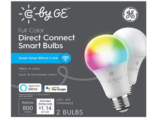 C by GE Full Color Direct Connect Smart LED Bulbs
