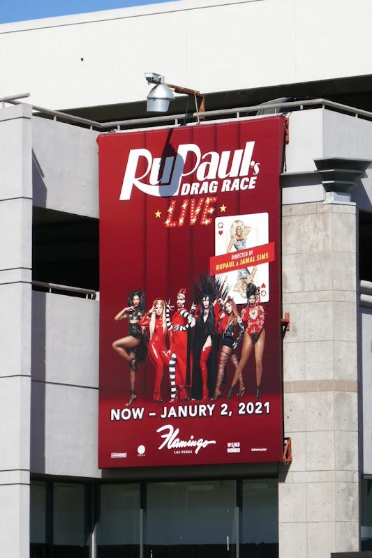 RuPauls Drag Race Live Las Vegas billboard