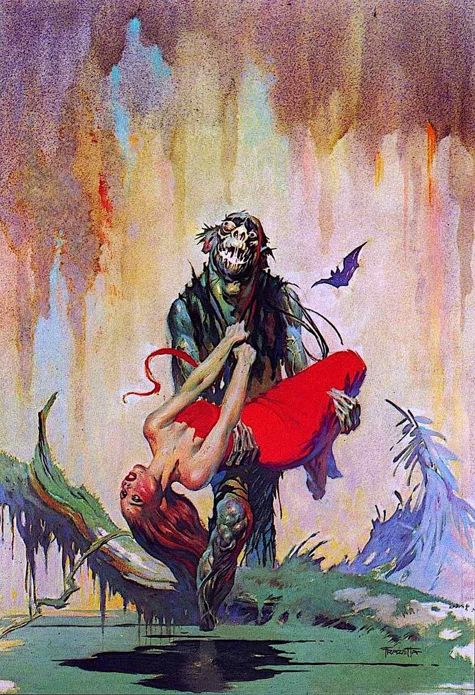 a Frank Frazetta book cover illustration for Monster Men