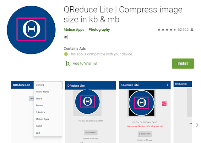 Reduce image size in android