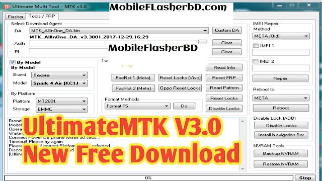 Download UMTV2UMRPro UltimateMTK v3.0 Setup Latest Update Unlock Dongle Tool Free For All