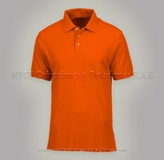 Camiseta Polo color naranja en Lacoste