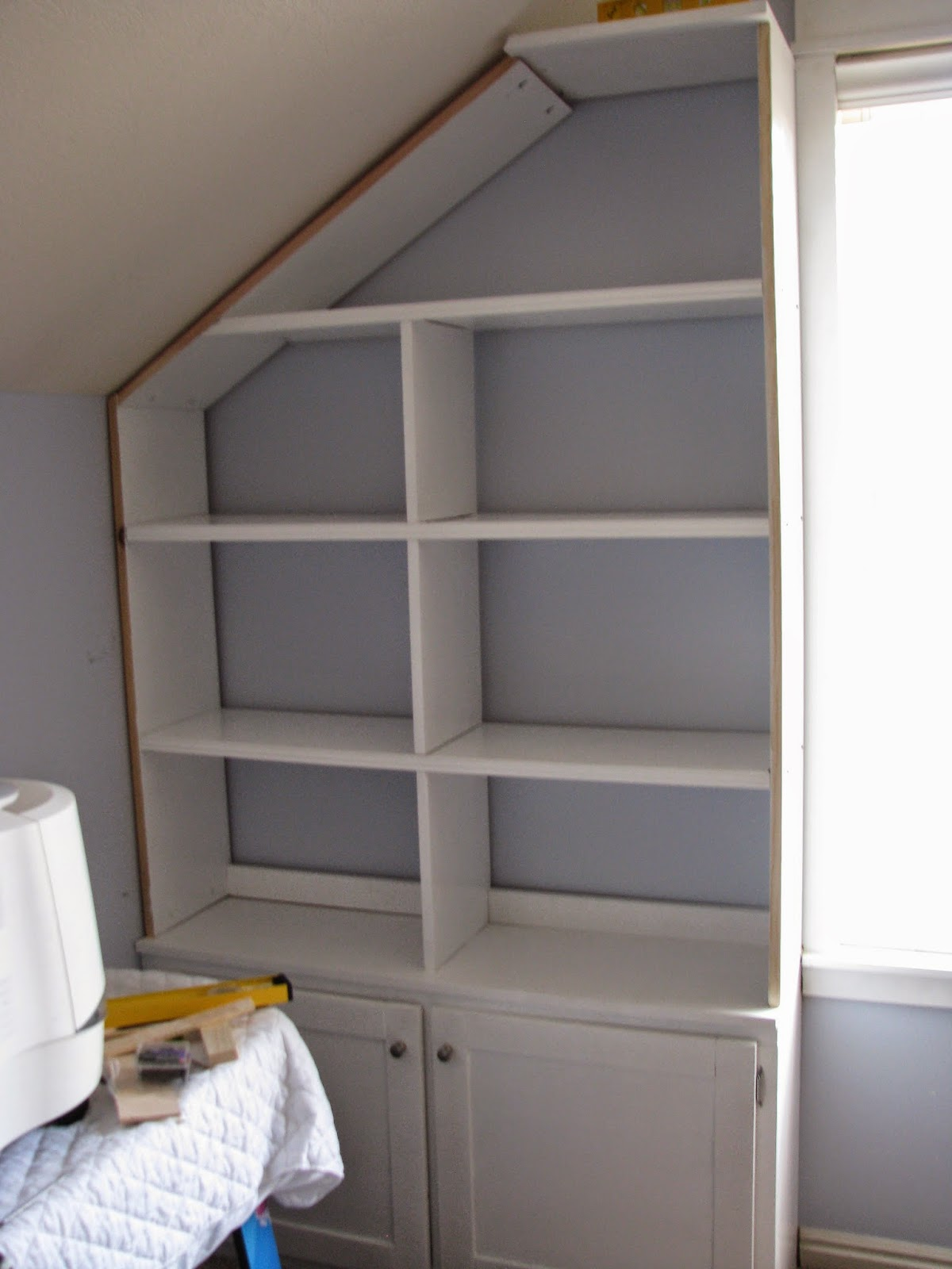 My So Called Diy Blog Project Bonus Room Built In Shelves With A