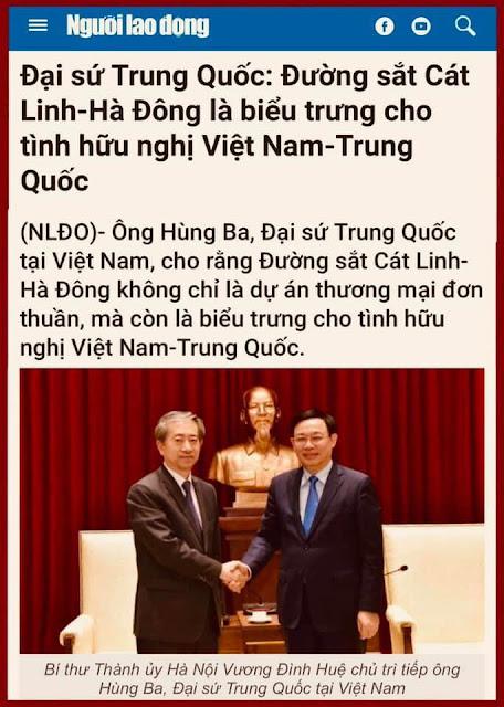 Tình hữu nghị ông Hùng Ba là nỗi đau của dân chúng Việt Nam?