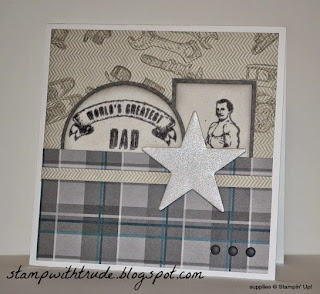 http://stampwithtrude.blogspot.com ,Stampin' Up!, Trude Thoman, Guy Greetings, Adventure Bound paper stack, Father's Day card, Masculine, #stampinup #guygreetings