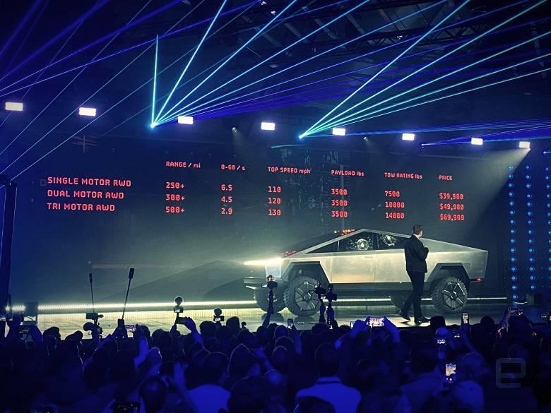 Tesla's most futuristic electric car unveiled - Cybertruck pickup